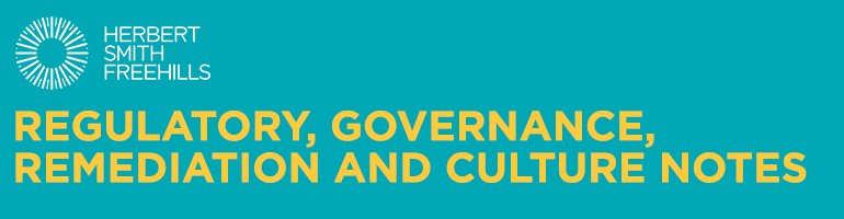 Herbert Smith Freehills - Regulatory, Governance, Remediation and Culture